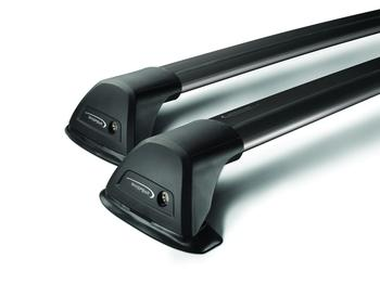 Багажник на водостоки Whispbar Flush Black для Toyota Land Cruiser Prado (J90) 1996-2002 — фото