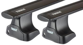 Багажник на гладкую крышу Thule Wingbar Black для Ford Focus (sedan, wagon & 5 door hatch)(US)(mkII) 2000-2007 — фото
