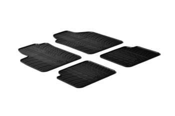 Резиновые коврики Gledring для Fiat 500 (mkI) 2007-2012 (no clips) — фото