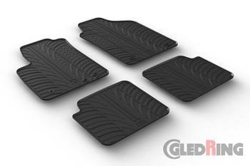 Резиновые коврики Gledring для Fiat 500 (mkI) 2013→ (4 clips) — фото