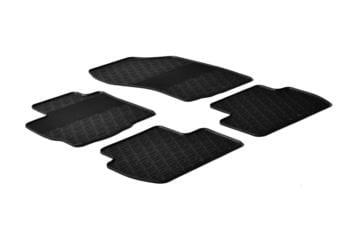 Резиновые коврики Gledring для Mitsubishi Outlander / Peugeot 4007 / Citroen C-Crosser 2008-2012 — фото