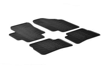 Резиновые коврики Gledring для Hyundai Accent (mkIII) / Kia Rio (mkII) 2005-2011 — фото