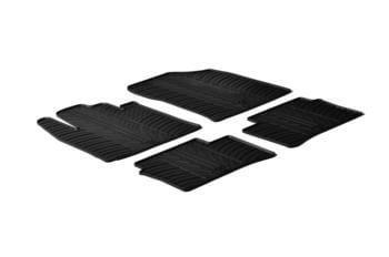Резиновые коврики Gledring для Kia Picanto (mkII) 2011-2016 — фото