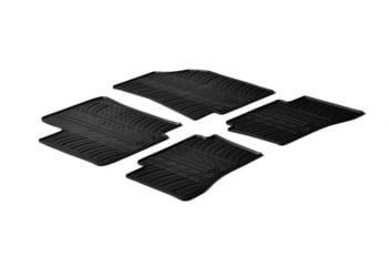 Резиновые коврики Gledring для Kia Rio (5 door hatch)(mkIII) 2011→ — фото