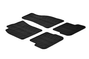 Резиновые коврики Gledring для Audi A6 (C6)(mkIII) 2004-2011 — фото