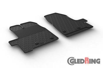 Резиновые коврики Gledring для Ford Transit Custom (1 row) 2012-2016 — фото