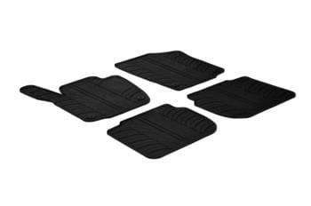 Резиновые коврики Gledring для Skoda Rapid / Seat Toledo 2012→ manual — фото
