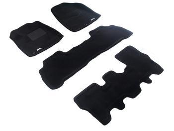 Двухслойные коврики Sotra 3D Premium 12mm Black для Acura MDX (mkII) 2007-2013 — фото