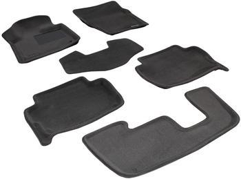Двухслойные коврики Sotra 3D Premium 12mm Grey для Audi Q7 (mkI) 2005-2015 — фото