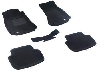 Двухслойные коврики Sotra 3D Premium 12mm Black для Audi A4 (sedan)(B8) 2009-2016 — фото
