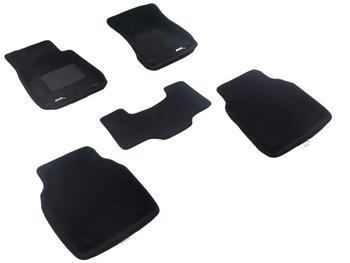 Двухслойные коврики Sotra 3D Premium 12mm Black для Audi A8 (long)(D4) 2010→ — фото