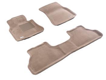 Двухслойные коврики Sotra 3D Premium 12mm Beige для BMW X5 (5 seats)(E70) 2007-2013 — фото