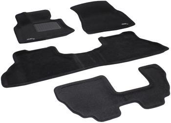 Двухслойные коврики Sotra 3D Premium 12mm Black для BMW X5 (7 seats)(E70) 2007-2013 — фото
