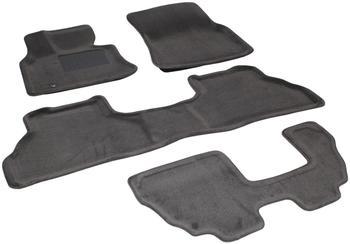 Двухслойные коврики Sotra 3D Premium 12mm Grey для BMW X5 (7 seats)(E70) 2007-2013 — фото