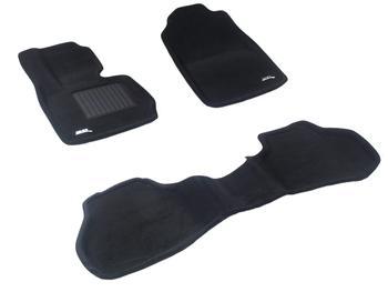 Двухслойные коврики Sotra 3D Premium 12mm Black для BMW X3 (F25) 2011-2017 — фото