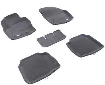 Двухслойные коврики Sotra 3D Premium 12mm Grey для Ford Mondeo 2007-2012 — фото