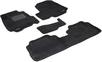 Двухслойные коврики Sotra 3D Premium 12mm Black для Honda CR-V (mkIII) 2007-2012 — фото