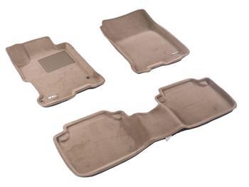 Двухслойные коврики Sotra 3D Premium 12mm Beige для Honda Accord (sedan)(mkIX)2013→ — фото
