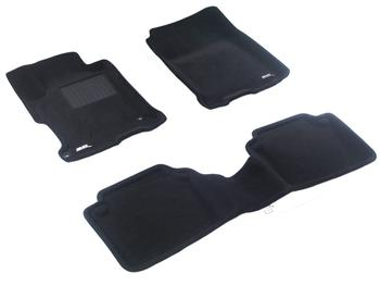 Двухслойные коврики Sotra 3D Premium 12mm Black для Honda Accord (sedan)(mkIX)2013→ — фото
