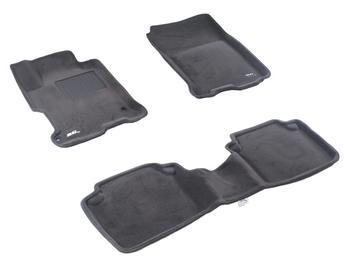 Двухслойные коврики Sotra 3D Premium 12mm Grey для Honda Accord (sedan)(mkIX)2013→ — фото