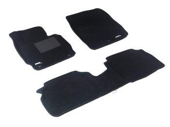 Двухслойные коврики Sotra 3D Classic 8mm Black для Hyundai Elantra (mkV) 2011-2016 — фото