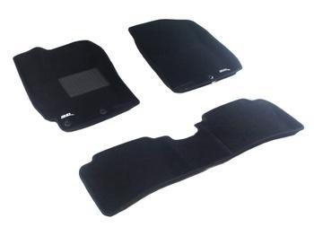 Двухслойные коврики Sotra 3D Classic 8mm Black для Hyundai Accent (mkIV) 2011-2017 — фото