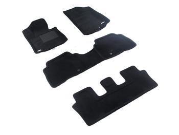 Двухслойные коврики Sotra 3D Premium 12mm Black для Kia Sorento (7 seats)(mkII) 2013-2014 — фото