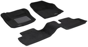 Двухслойные коврики Sotra 3D Premium 12mm Black для Land Rover Range Rover Evoque 2012→ — фото