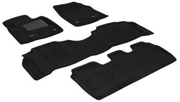 Двухслойные коврики Sotra 3D Premium 12mm Black для Lexus LX570 (mkIII) 2007-2011 — фото