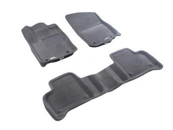 Двухслойные коврики Sotra 3D Premium 12mm Grey для Mercedes-Benz M-Class (W166) 2011→ — фото