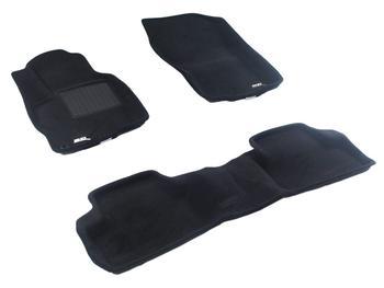 Двухслойные коврики Sotra 3D Premium 12mm Black для Mitsubishi ASX 2012-2014 — фото