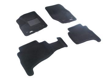 Двухслойные коврики Sotra 3D Premium 12mm Black для Porsche Cayenne (957)(mkI) 2008-2011 — фото