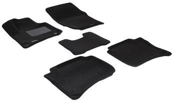 Двухслойные коврики Sotra 3D Premium 12mm Black для Porsche Cayenne (958)(mkII) 2011→ — фото