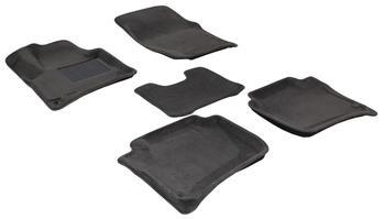 Двухслойные коврики Sotra 3D Premium 12mm Grey для Porsche Cayenne (958)(mkII) 2011→ — фото