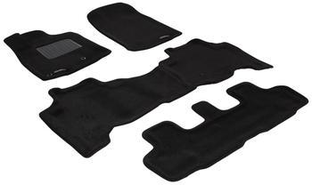Двухслойные коврики Sotra 3D Premium 12mm Black для Toyota Land Cruiser Prado (J150) 2010-2011 — фото