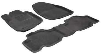 Двухслойные коврики Sotra 3D Premium 12mm Grey для Toyota RAV4 (SWB)(mkIII) 2006-2012 — фото