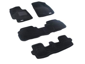 Двухслойные коврики Sotra 3D Premium 12mm Black для Toyota Highlander (mkII) 2008-2011 gasoline — фото