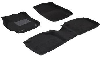 Двухслойные коврики Sotra 3D Premium 12mm Black для Toyota Camry (XV50) 2011-2014 — фото