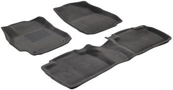 Двухслойные коврики Sotra 3D Premium 12mm Grey для Toyota Camry (XV50) 2011-2014 — фото