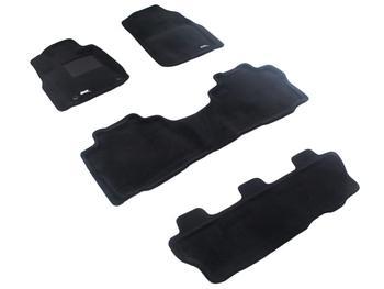 Двухслойные коврики Sotra 3D Premium 12mm Black для Toyota Sequoia (mkII) 2012→ — фото