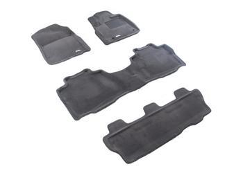 Двухслойные коврики Sotra 3D Premium 12mm Grey для Toyota Sequoia (mkII) 2012→ — фото