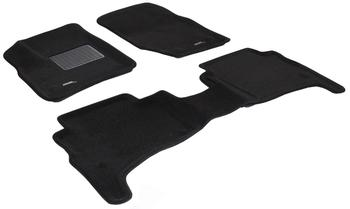 Двухслойные коврики Sotra 3D Premium 12mm Black для Volkswagen Touareg (mkI) 2003-2010 — фото