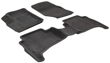 Двухслойные коврики Sotra 3D Premium 12mm Grey для Volkswagen Touareg (mkI) 2003-2010 — фото
