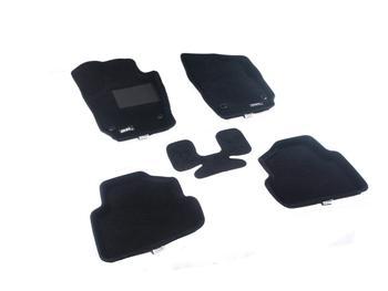 Двухслойные коврики Sotra 3D Classic 8mm Black для Volkswagen Polo (mkV) 2009→ — фото