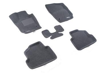 Двухслойные коврики Sotra 3D Classic 8mm Grey для Volkswagen Polo (mkV) 2009→ — фото