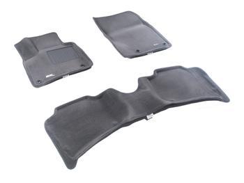 Двухслойные коврики Sotra 3D Premium 12mm Grey для Volkswagen Touareg (mkII) 2011→ — фото