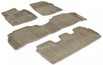Двухслойные коврики Sotra 3D Royal Beige для Lexus LX570 (mkIII) 2012→ — фото