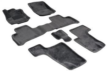 Двухслойные коврики Sotra 3D Royal Grey для Mercedes-Benz GL-Class (X166) 2012→ — фото