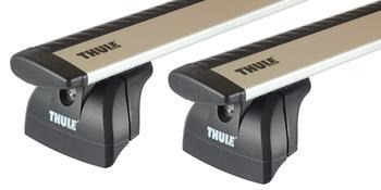 Багажник на интегрированные рейлинги Thule Wingbar для Fiat Panda (mkIII) 2012→ — фото